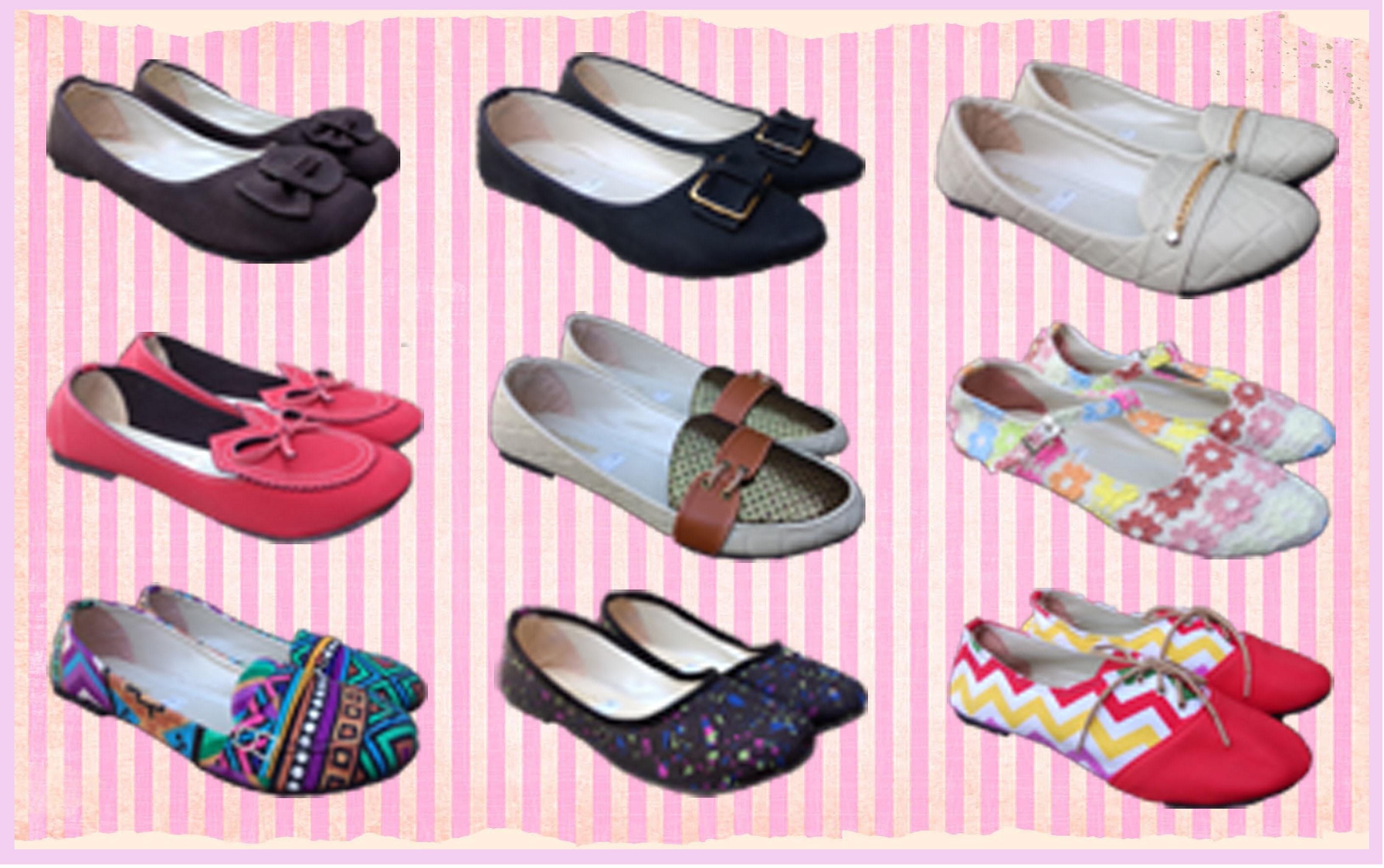 Flat Shoes Cantik, Sepatu Flat Wanita, Flat Shoes Handmade